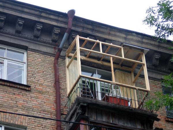 Обшивка балкона Киев 0001