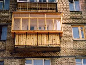 Внешняя обшивка балкона