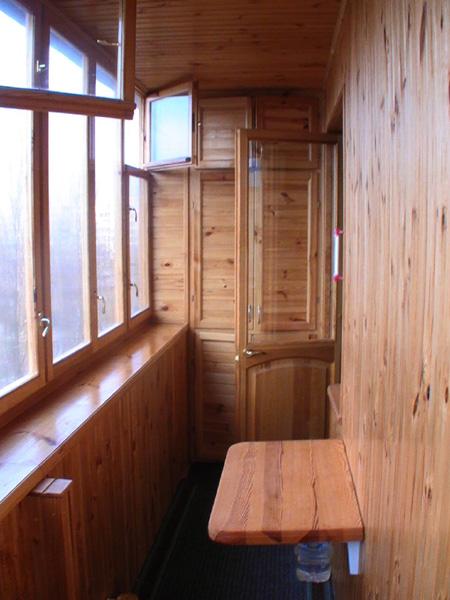 Обшивка балкона