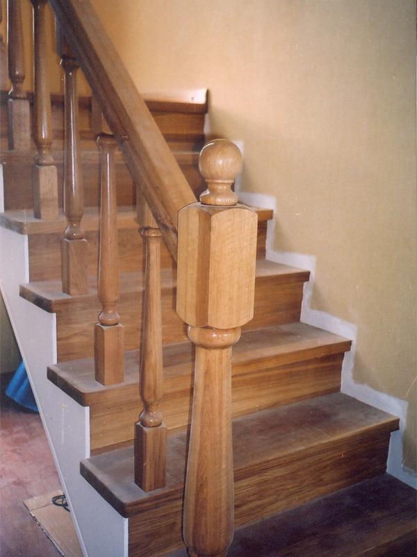 Лестницы из натерального дерева