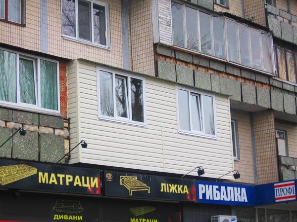 Внешняя обшивка балкона Киев