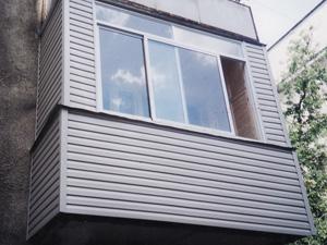 Внешняя обшивка балконов пластиком