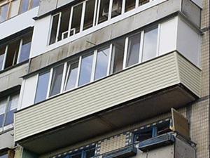 Остекление балкона пластиком внешний вид